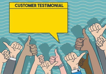 Testimonial illustration template - Free vector #437933