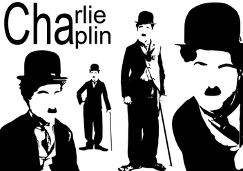 Charlie Chaplin Silhouette - Free vector #437953