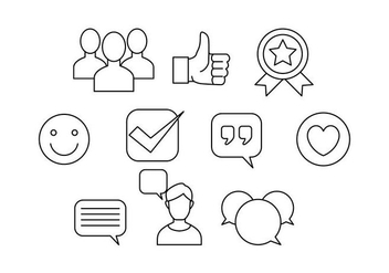 Free Testimonials Thin Line Icon Vector - бесплатный vector #437993