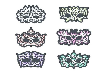 Free Unique Masquerade Ball Vectors - Free vector #438053