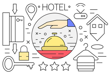 Free Linear Hotel Icons - Free vector #438083