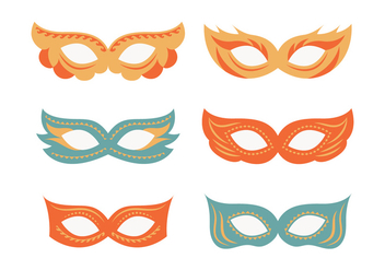 Festive Masquerade Mask Collection - vector #438163 gratis