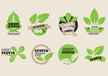 Sweet Stevia Label Vector Collection - vector gratuit #438213