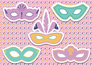 Carnival Mask Vector - Free vector #438223