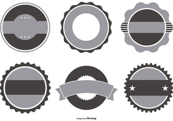 Retro Badge Shapes Collection - vector gratuit #438353