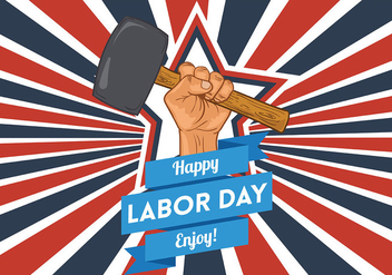 Labor Day Vector Background - vector gratuit #438383