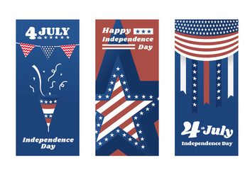 Independence Day Poster Vectors - Free vector #438403