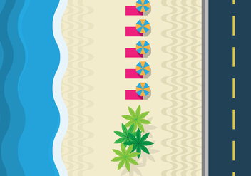 Copacabana Beach Top View - vector gratuit #438433