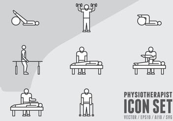 Physiotherapy Icons - Free vector #438443