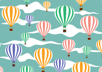 Hot Air Balloon Pattern Vector - Free vector #438483