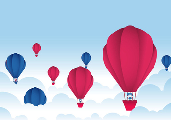Hot Air Balloon Festival Vector - Free vector #438493