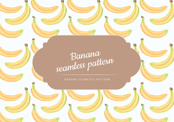 Vector Hand Drawn Bananas Seamless Pattern - Kostenloses vector #438543