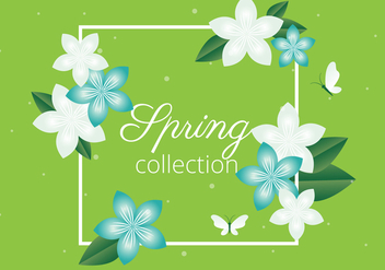 Free Spring Season Vector Background - vector gratuit #438553