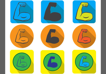 Muscle Vector Icon - vector gratuit #438593
