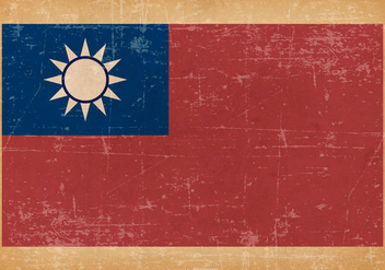 Grunge Flag of Taiwan - Free vector #438633