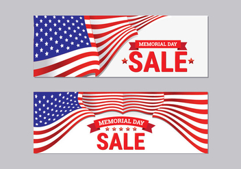 Memorial Day Sale Banner Collection - бесплатный vector #438663