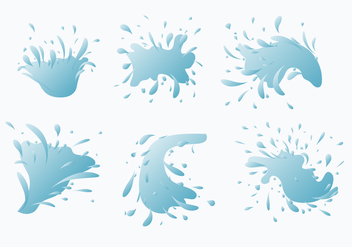 Water Jet Splash Vector Collection - бесплатный vector #438683