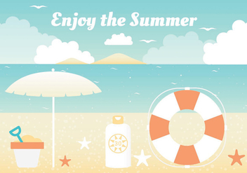 Free Summer Vacation Vector Elements - Kostenloses vector #438743