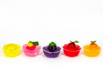delectable imitation fruits in jelly Thai dessert - image gratuit #439063