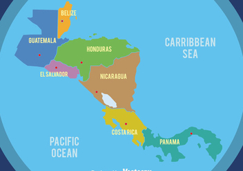 Nice Central America Map Vector - Kostenloses vector #439303