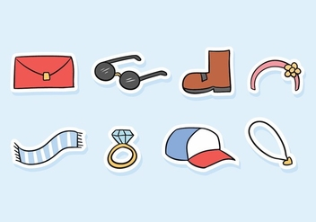 Accessories Doodle Icon Pack - vector gratuit #439443