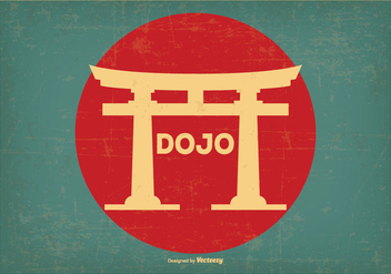 Retro Style Dojo Illustration - Free vector #439473