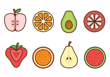 Fruit Icon Set - vector gratuit #439483
