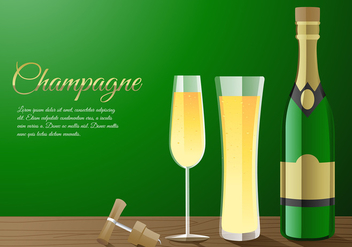 Champagne Fizz Free Vector - Free vector #439513