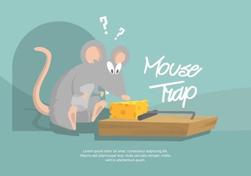 Mouse Trap Illustration - vector gratuit #439533