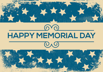 Grunge Retro Memorial Day Background - Free vector #439553