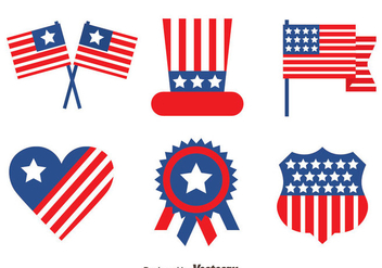 Independence Day Element Vectors - Free vector #439573