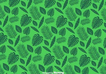 Green Leaves Pattern - Vector - бесплатный vector #439583
