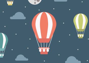 Vector Landscape With Air Balloons - vector gratuit #439603