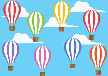 Hot Air Balloon Icon Vector - vector gratuit #439613