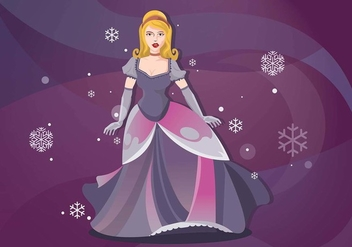 Dressed Up Princesa for Evening Gala Vector Background - vector #439623 gratis