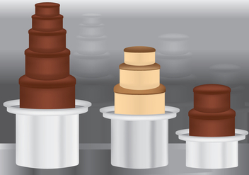 Colored Chocolate Fountain - vector gratuit #439633