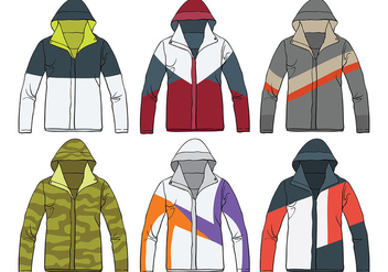Windbreaker Vector Icons - Free vector #439703