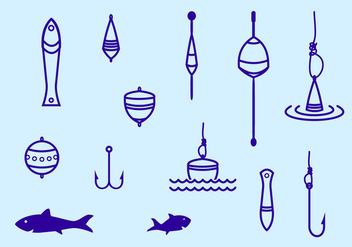 Fishing Tackle Stroke Icon - Free vector #439713