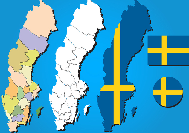 Sweden Map Vector Set - Free vector #439723