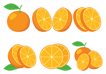 Clementine Vector Icons - Free vector #439763