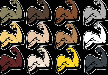 Vector Flexing Arm Vector Icon - бесплатный vector #439813