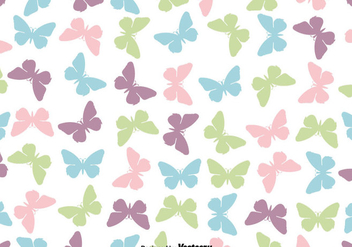 Cute Butterfly Icon Seamless Pattern - Vector - Free vector #439833