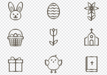 Easter Icons - vector gratuit #439863