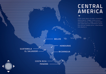 Central America Map Technology Free Vector - Kostenloses vector #439903