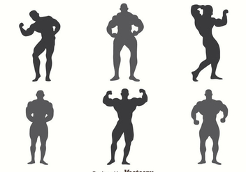 Body Building SIlhouette Vectors - бесплатный vector #439913
