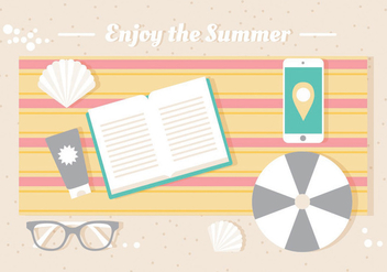 Free Vector Summer Illustration - Kostenloses vector #439993