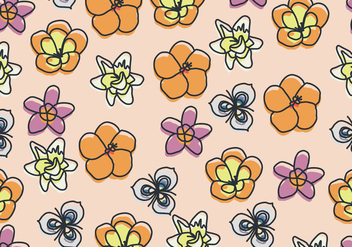 Hand Drawn Floral Pattern With Some Flowers - Free vector #440013