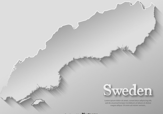Vector Card Paper Sweden Map Template - Free vector #440083