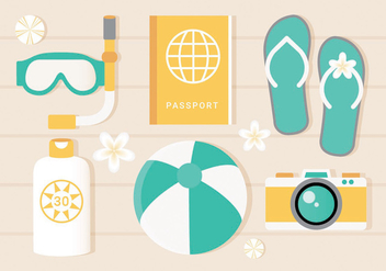 Free Vector Summer Elements - vector gratuit #440163