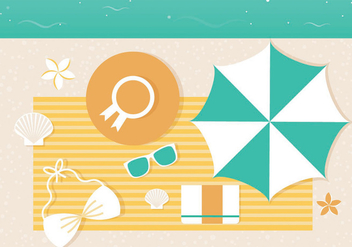 Free Vector Summer Illustration - Kostenloses vector #440173